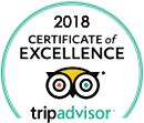 Darby O'Gill Day Tours 2018 TripAdvisor Certificate of Excellence