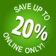 Book online and get up to 20% off!