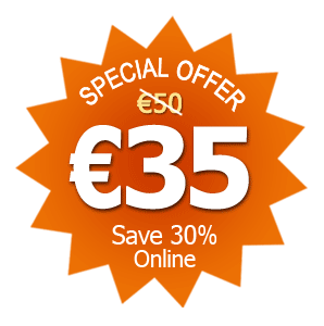 Save 40%! Just 30 Euro online for a limited time only