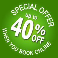 Get up to 40% off when you book a Darby O'Gill day tour online