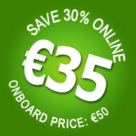 30% OFF! Book online for only €35 - Save €15!