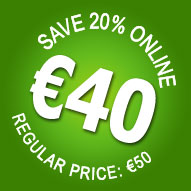 20% OFF! Book online for only €40 - Save €10!