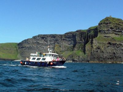 Cruise the base of the Cliffs of Moher from Doolin