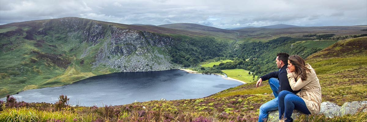 "Lough Tay, also known as the ""Guinness Lake"""